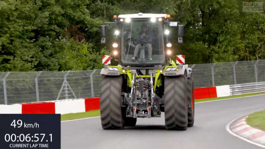 Watch A Racing Driver Turn A 'Fast' Nurburgring Lap In A Tractor