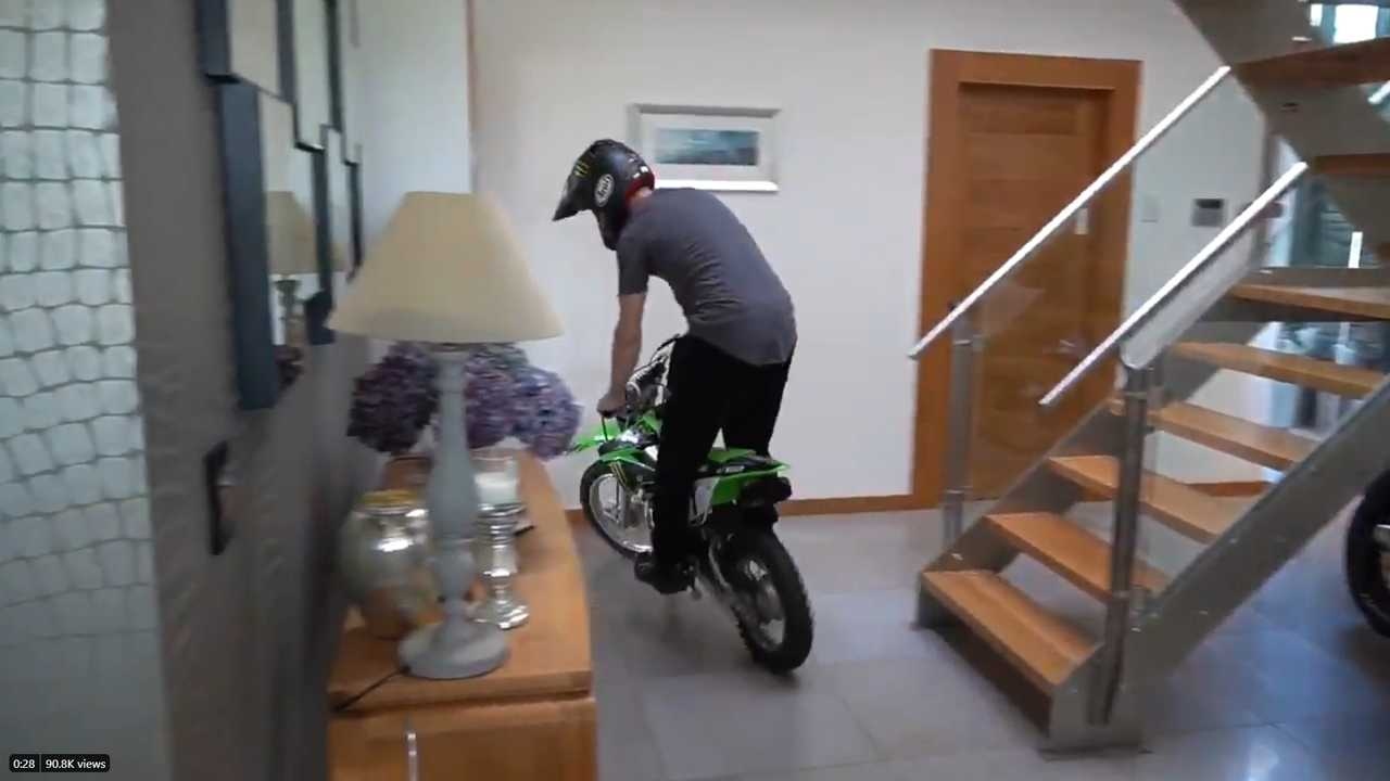 WSBK Champion Jonathan Rea Rides Through his house