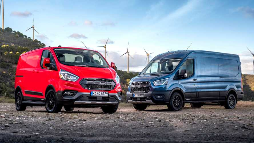 European Ford Transit's New Trail Model Has Raptor-Inspired Grille