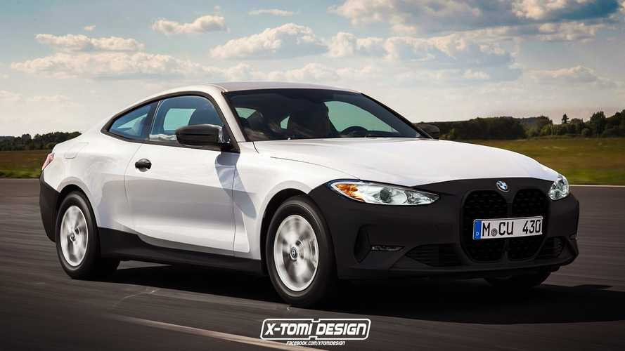 BMW 4 Series Coupe rendered in base trim with black bumpers
