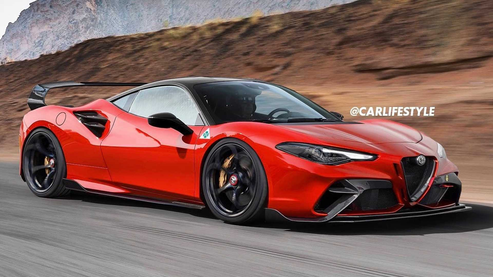 Alfa Romeo Giulia GTAm reimagined in mid-engine supercar rendering