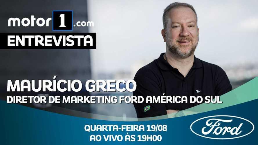 Maurício Greco, diretor de marketing da Ford América do Sul, fala ao vivo nesta quarta às 19h