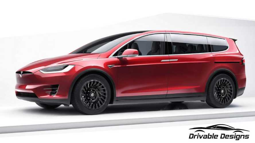 Here's The Tesla Minivan We've Been Waiting For: Embrace The Sliding Doors