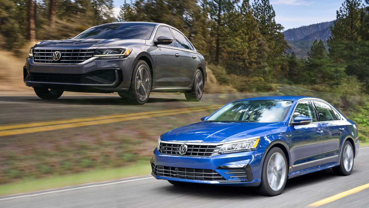 2020 volkswagen passat see the changes sidebyside