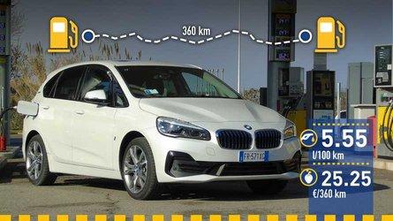 BMW 225xe Active Tourer: prueba de consumo real