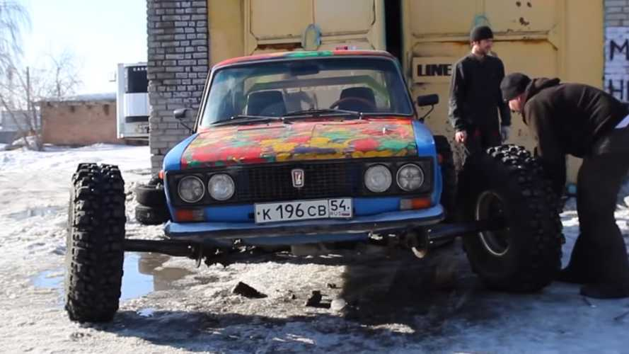 Lada With 38-Inch Wheels Is From Mad Max: Russia Edition