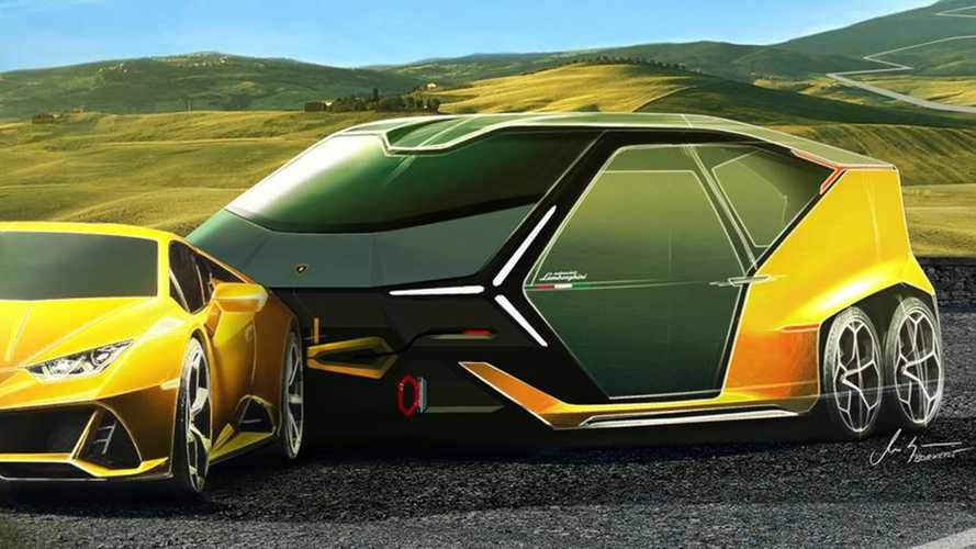 Lamborghini Laughingly Launches Camping Trailer For Huracan