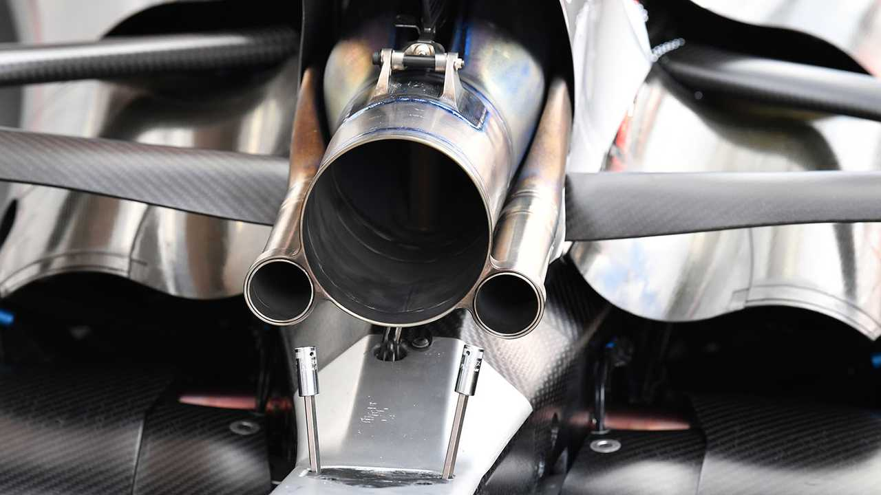 Mercedes AMG F1 F1 W08 exhaust detail
