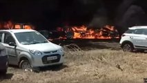 Massive Fire Takes Out 300 Cars
