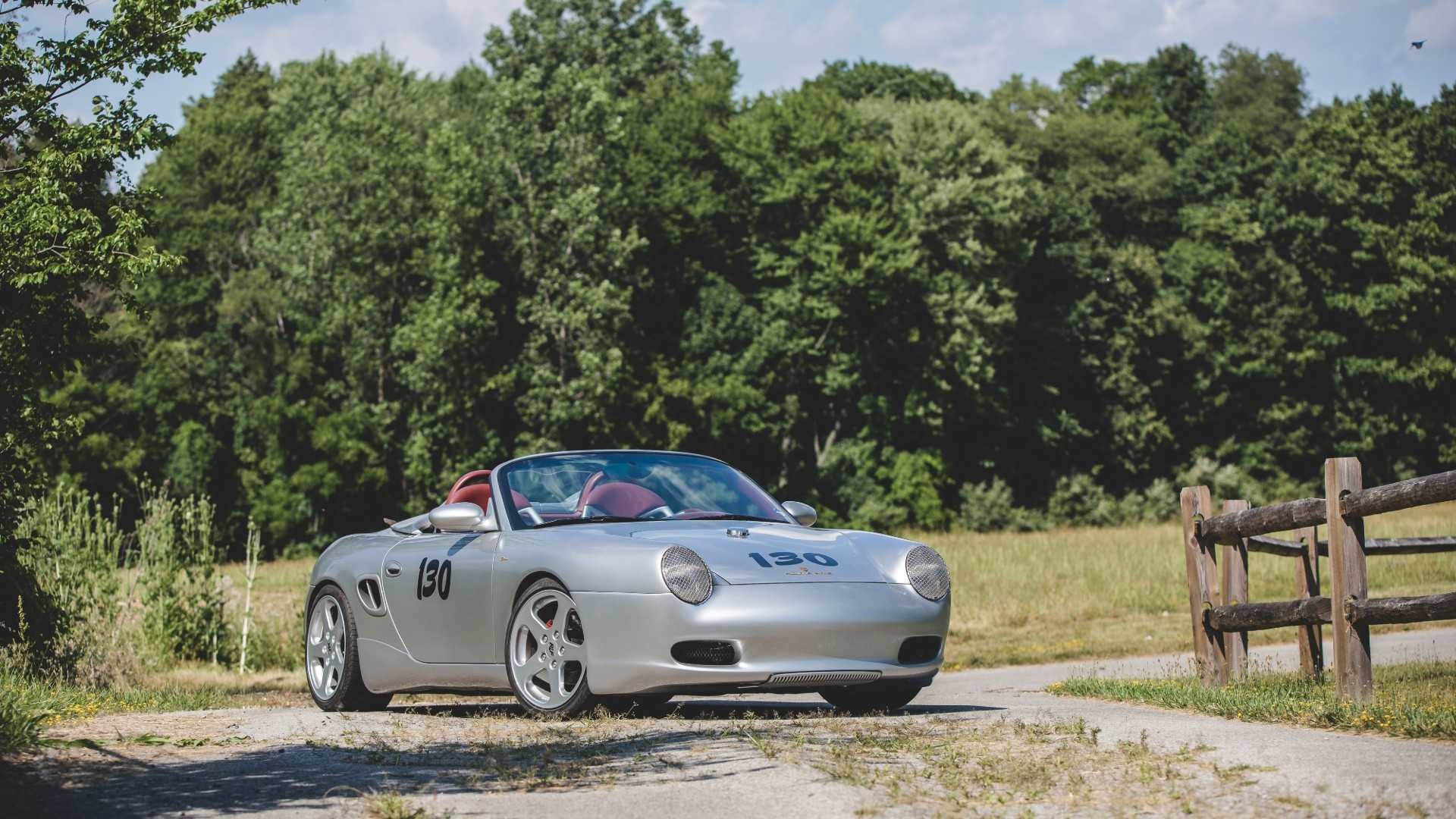 "[""1997 Porsche Boxster \""The Dean\"" Little Bastard 550 Spyder Tribute""]"