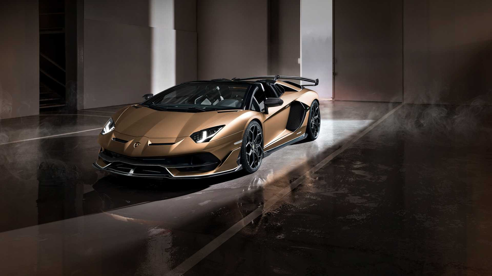 Lamborghini Aventador Svj Roadster Ditches Roof In Geneva