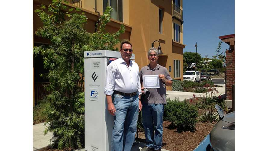 First Publicly Available ChargePoint DC Quick Charger Logs 1,000th Charging Session