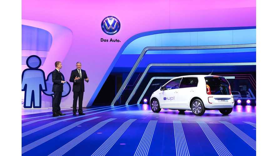 Volkswagen e-Up! Takes to the Stage in Frankfurt - Detailed Photos and Tons of Videos