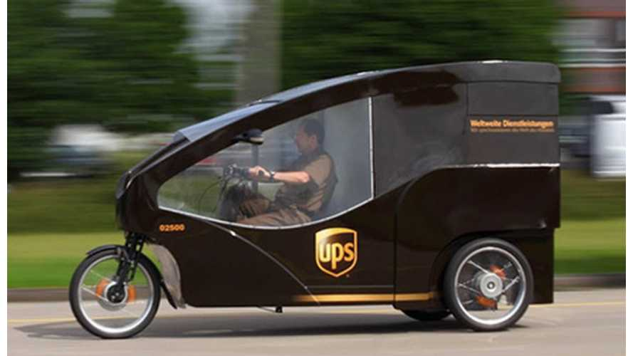 UPS Trials Electric Trikes in Europe