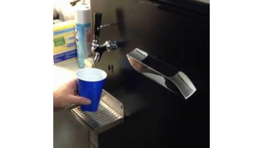 Video: Tesla Model S Door Handle Gets Transformed Into Beer Dispenser