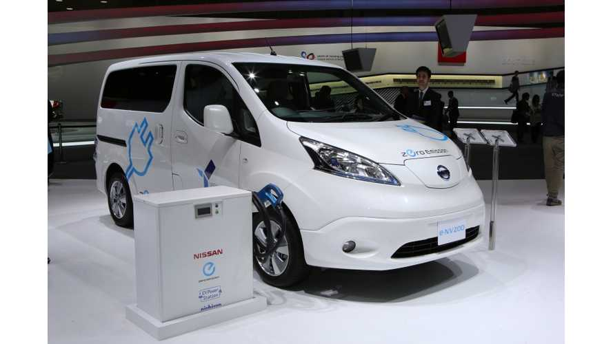 Production Nissan e-NV200 Electric Van Debuts In Two Weeks - On Sale In May