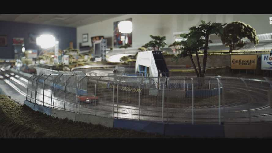 This brilliant slot car racing video makes us wish we were tiny