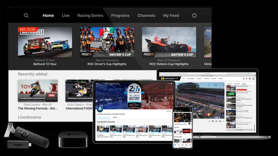 Motorsport.tv lança serviço gratuito de TV pela internet para fãs