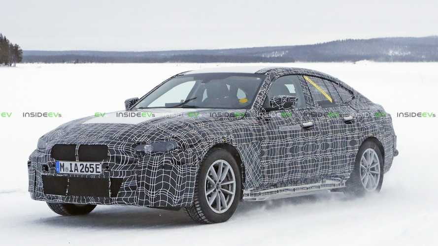 BMW i4 Spy Shots Capture Long-Range Electric Sedan In The Snow