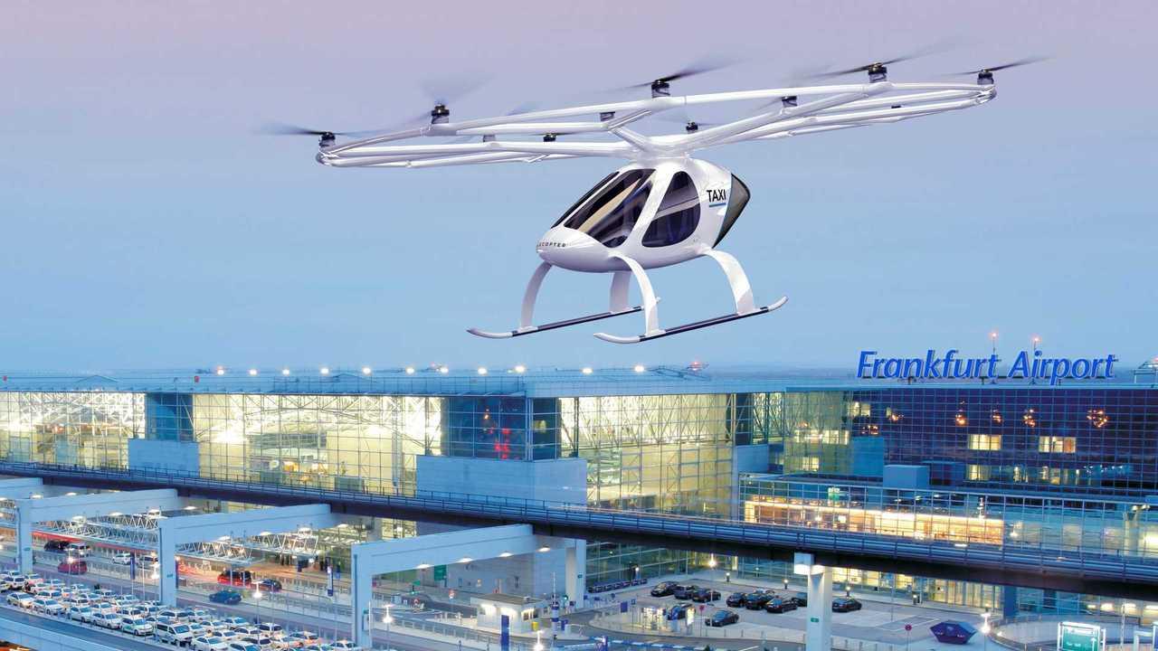 Volocopter-Flugtaxi am Frankfurter Flughafen