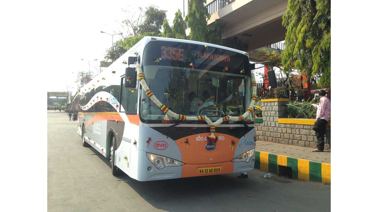 BYD Launches First Pure Electric Bus in India