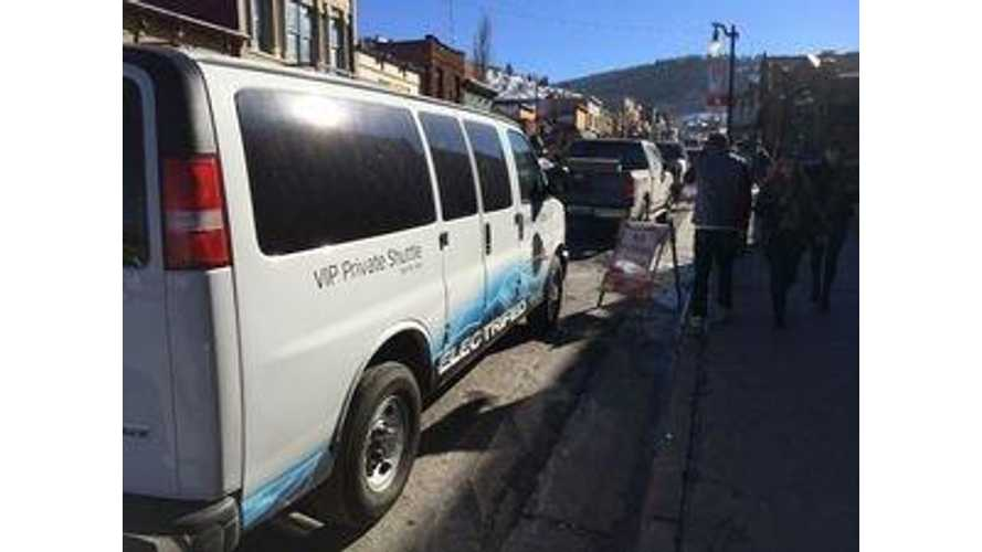VIA Motors EREV Shuttle Van Made In-Service Debut at Sundance Film Festival