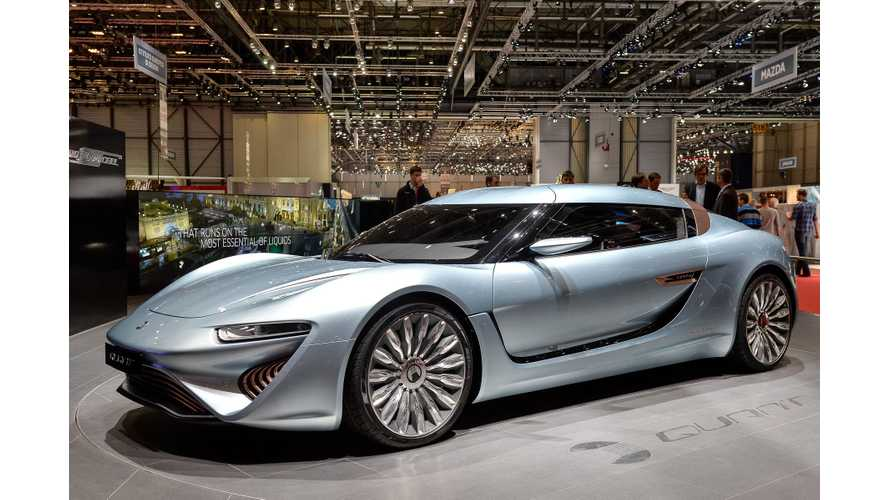 Videos of QUANT e-Sportlimousine at Geneva Motor Show