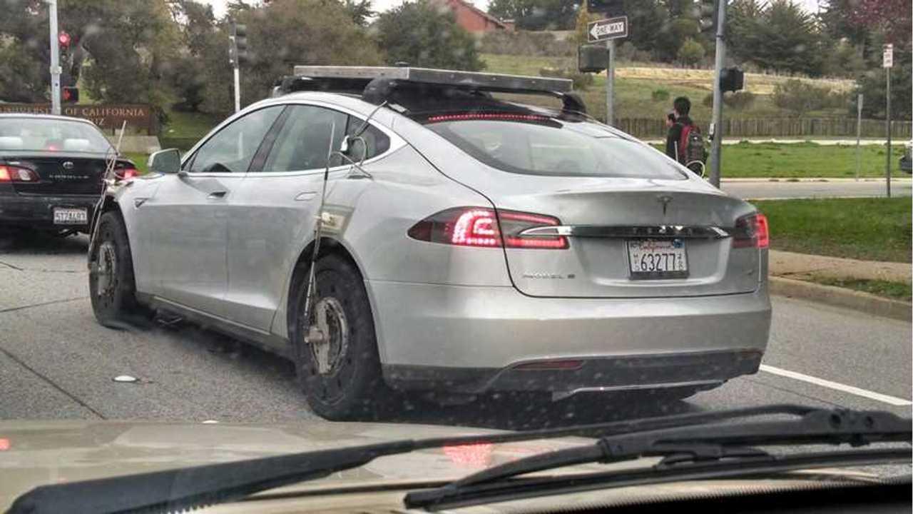 Tesla Model X AWD Prototype Test Mule Spotted Testing (w/video)