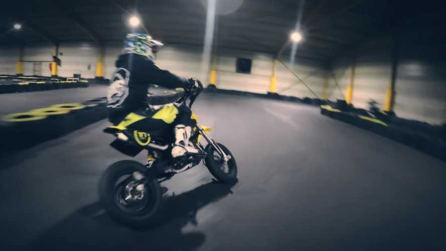 Pit Bike Racing On A Go-Kart Track Looks So Fun