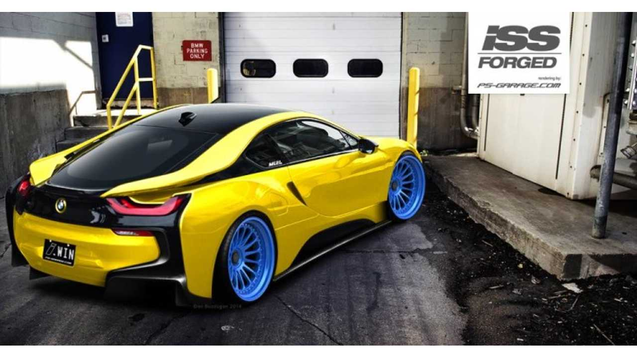 Bmw I8 Rendered With Iss Forged Wheels