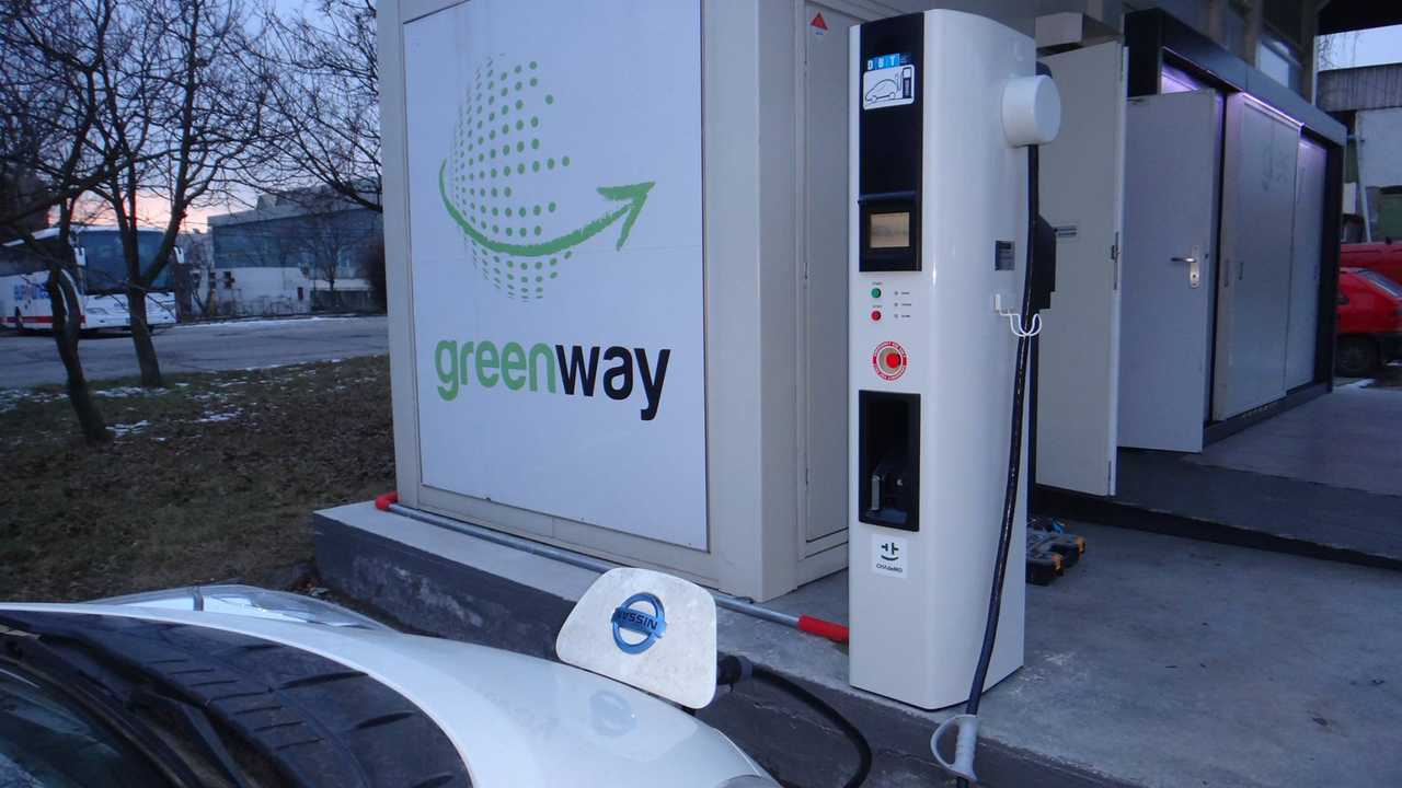 GreenWay CHAdeMO charger in Slovakia