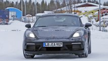 Possible six-cylinder Porsche 718 Boxster spy photos