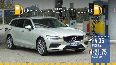 Volvo V60 D4: реальный расход топлива