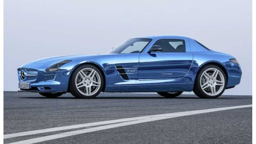 Mercedes SLS AMG Coupe Electric Drive Unveiled In Paris