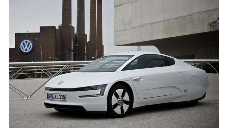 Volkswagen XL1 Makes US Debut; VW Still Says XL1 Won't be Sold Here