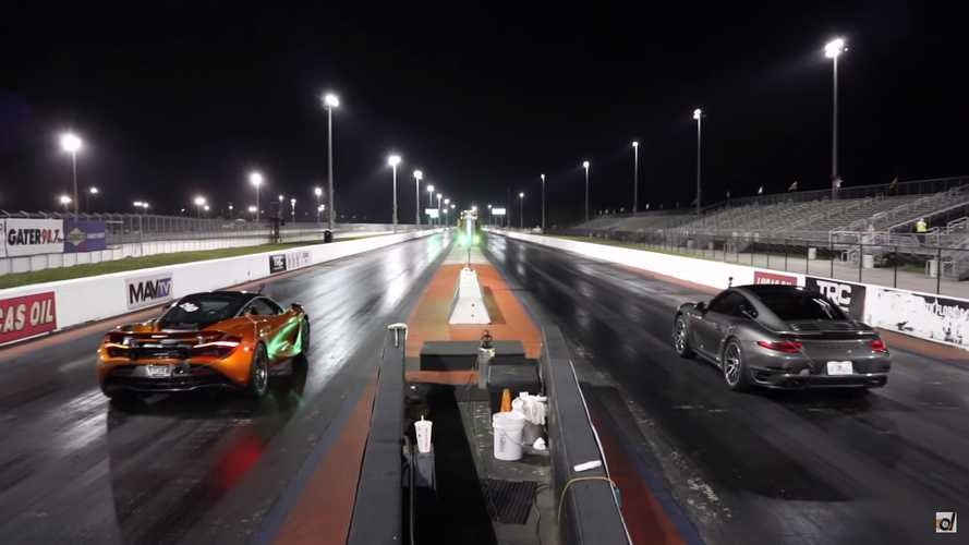 Porsche 911 Turbo S Vs. McLaren 720S Drag Race