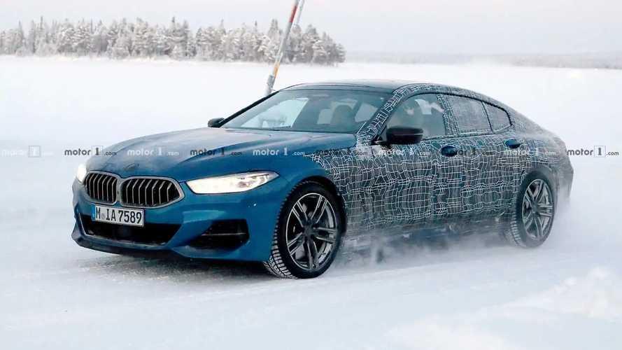 BMW 8 Serisi Gran Coupe, soğuk hava testinde yakalandı