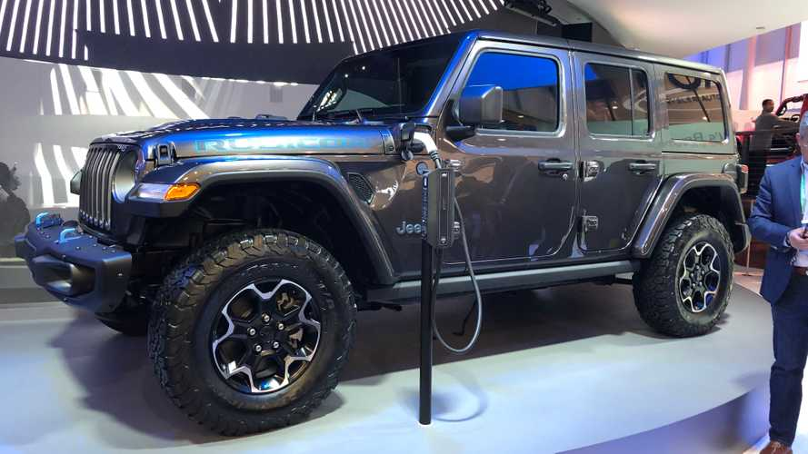 Check Out Jeep Wrangler 4XE PHEV Plugged In And Charging At CES