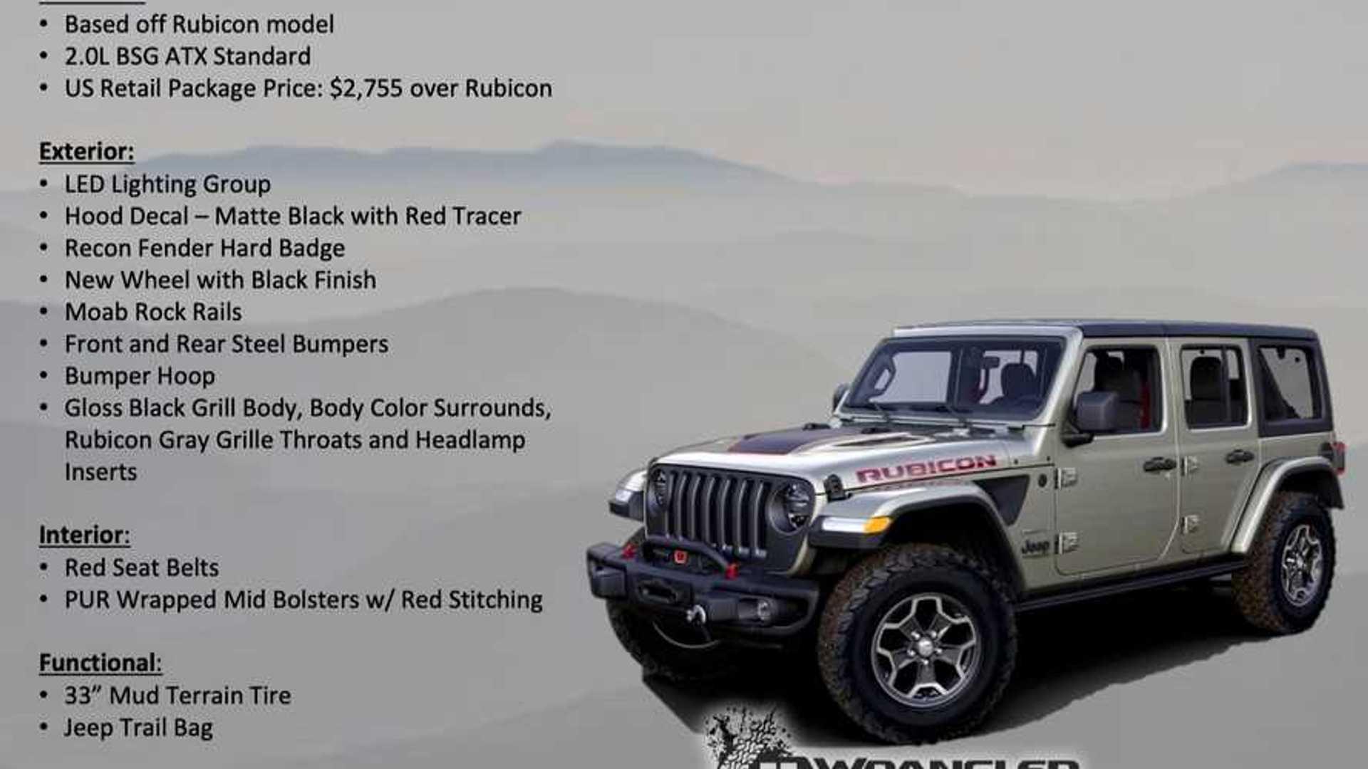 Wrangler Rubicon Recon Jeep Wrangler 2019