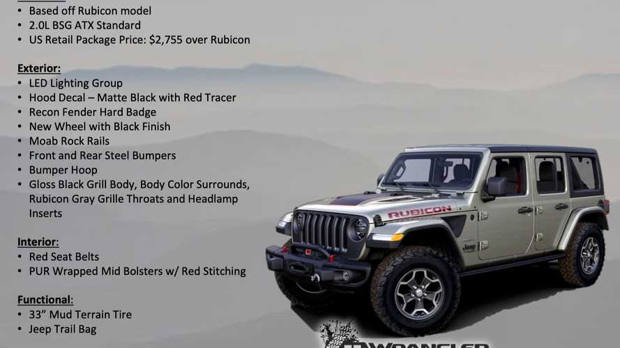 2020 Jeep Wrangler Rubicon Recon Edition Leaks Out