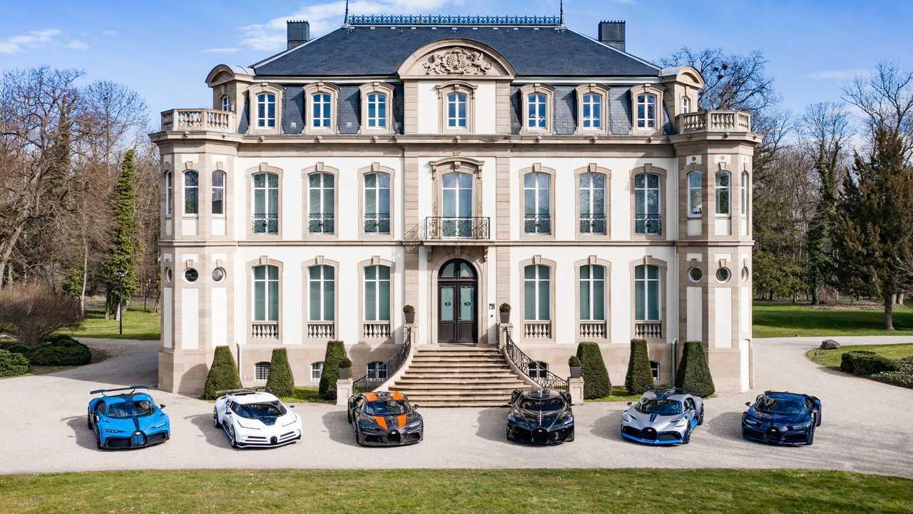 Foto millonaria de Bugatti
