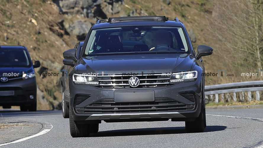 Volkswagen Tiguan Facelift New Spy Photots