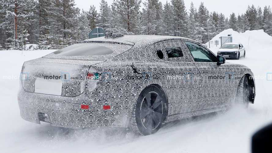 2021 Jaguar XJ electric saloon spied hiding sleek production body