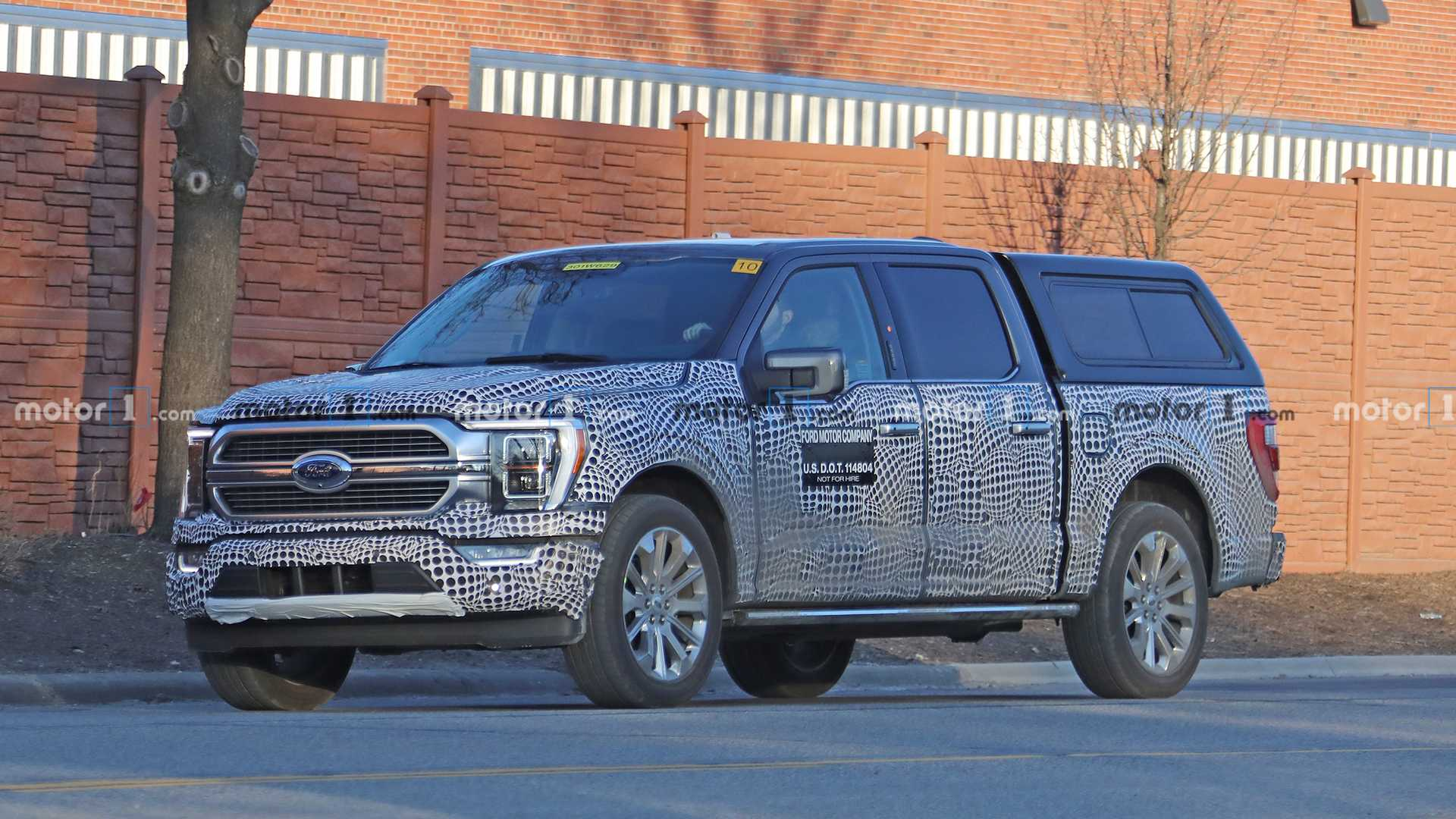 2021 ford f150 hybrid spied with updated frontend design