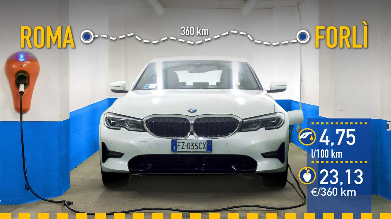 BMW 330e Berlina 2020, prueba de consumo real