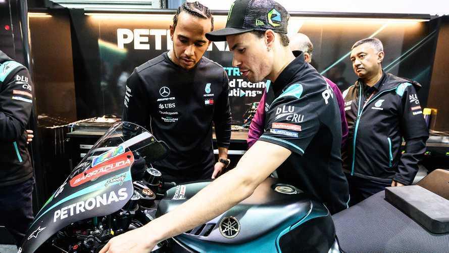 Morbidelli coach di Hamilton per il test di Valencia sulla MotoGP
