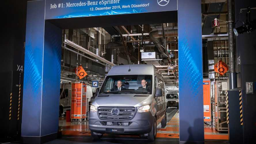 Mercedes-Benz eSprinter production at the Dusseldorf plant