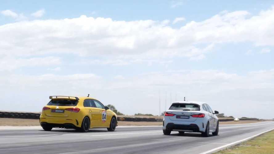 Videó: A Mercedes-AMG A35 a BMW M135i ellen a hot hatch bajnoki címért