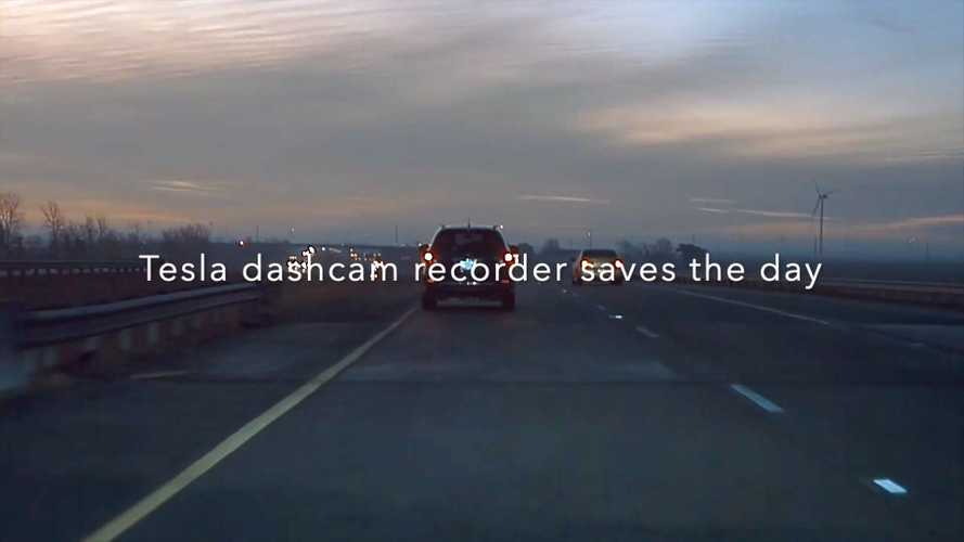 Hit By A Car And A Bottle: The Weirdest Hit And Run Ever Recorded By TeslaCam