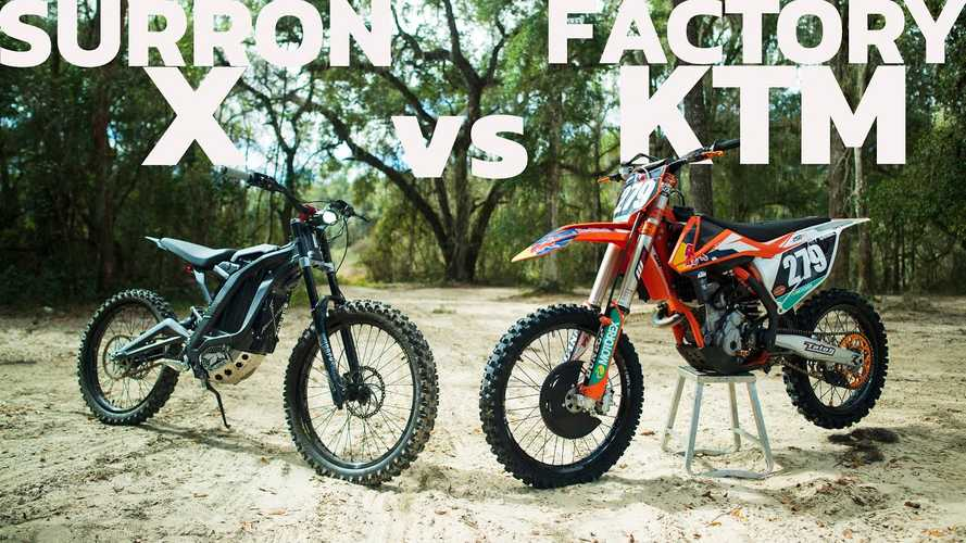 Sur-Ron X Vs. KTM Factory Edition 250 SX-F: Who Will Win?